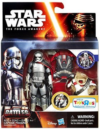 Star Wars: The Force Awakens, Epic Battles, Captain Phasma Exclusive 3.75 Inches Action Figure Set,
